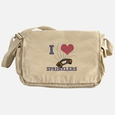 I Love (Heart) Sprinklers Messenger Bag