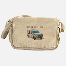 How I Roll (Ambulance) Messenger Bag