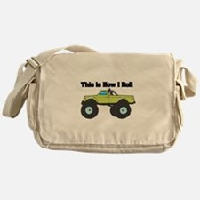 How I Roll (Monster Truck) Messenger Bag