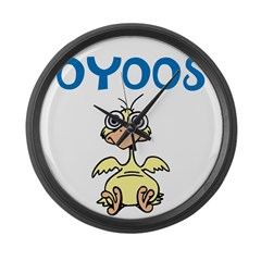 OYOOS Kids Chick design Large Wall Clock