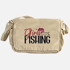 Girls Gone Fishing Messenger Bag