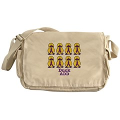 ADD Awareness Ribbon Ducks Messenger Bag
