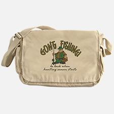 Gone Fishing - Hunting Season Messenger Bag