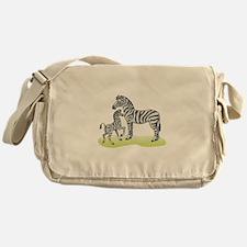 Mommy and Baby Zebra Messenger Bag