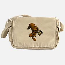 3D Squirrel with Acorn Messenger Bag