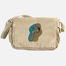 Cute Squirrels in Love Messenger Bag