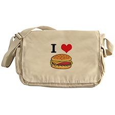 I Heart (Love) Cheeseburgers Messenger Bag