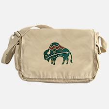 Native Buffalo Design Messenger Bag