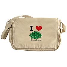 I Heart (Love) Green Beans Messenger Bag