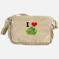 I Heart (Love) Lettuce Messenger Bag