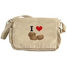 I Heart (Love) Potatoes Messenger Bag