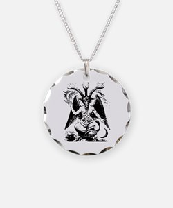 Vintage Black Baphomet Necklace