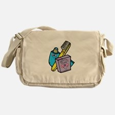 Cute Toothbrush, Toothpaste a Messenger Bag
