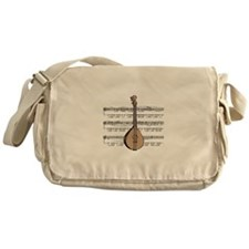 Mandolin and Sheet Music Desi Messenger Bag