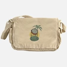 Steel Drum and Palm Tree Messenger Bag