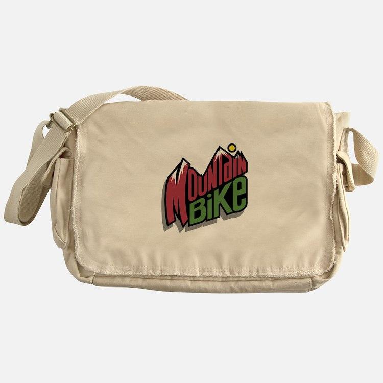Mountain Bike Graphic Messenger Bag