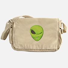 Funny Winking Alien Messenger Bag