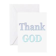 Thank God Greeting Card