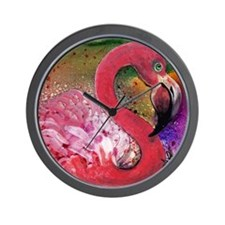 Petty In Pink, Flamingo Wall Clock