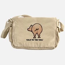 Talk to the Tail Pig Messenger Bag