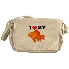 I Love my Goldfish Messenger Bag