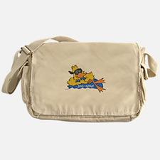 Ducky on a Raft Messenger Bag