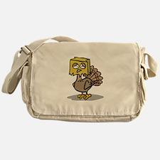 Hiding Paper Bag Head Turkey Messenger Bag