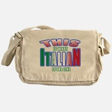 This is what Italian looks li Messenger Bag