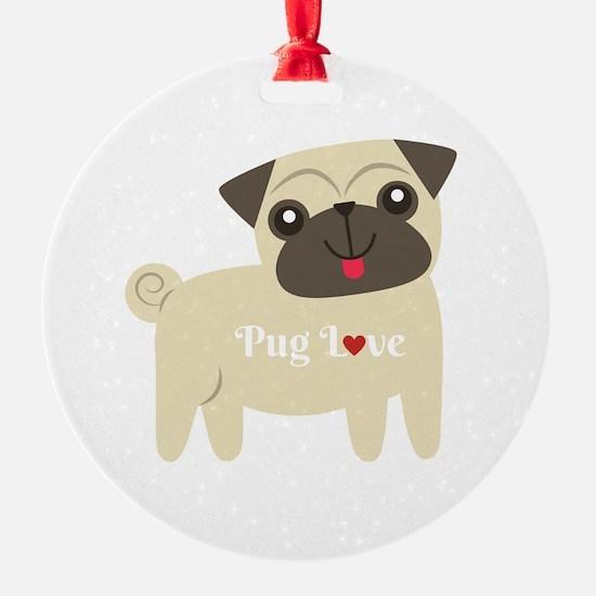 Pug Love Ornament