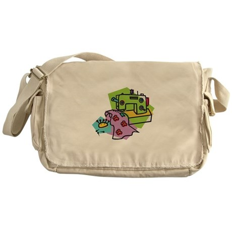 Cute Sewing Machine Design Messenger Bag