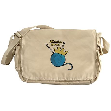 Knitting Queen Messenger Bag