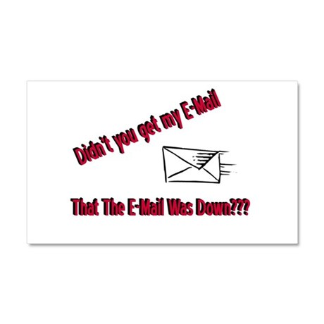 Email is Down Car Magnet 20 x 12