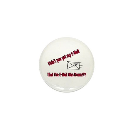 Email is Down Mini Button (100 pack)