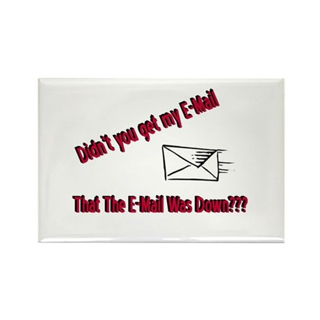 Email is Down Rectangle Magnet (100 pack)