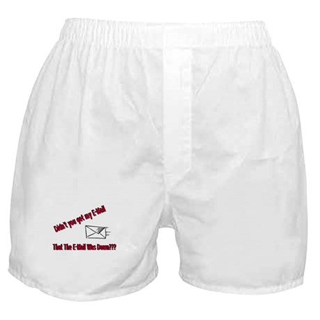 Email is Down Boxer Shorts