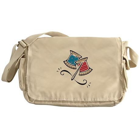 Cute Needle & Thread Design Messenger Bag