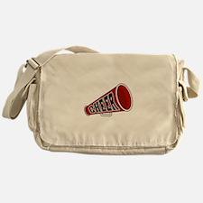 Red Cheer Megaphone Messenger Bag