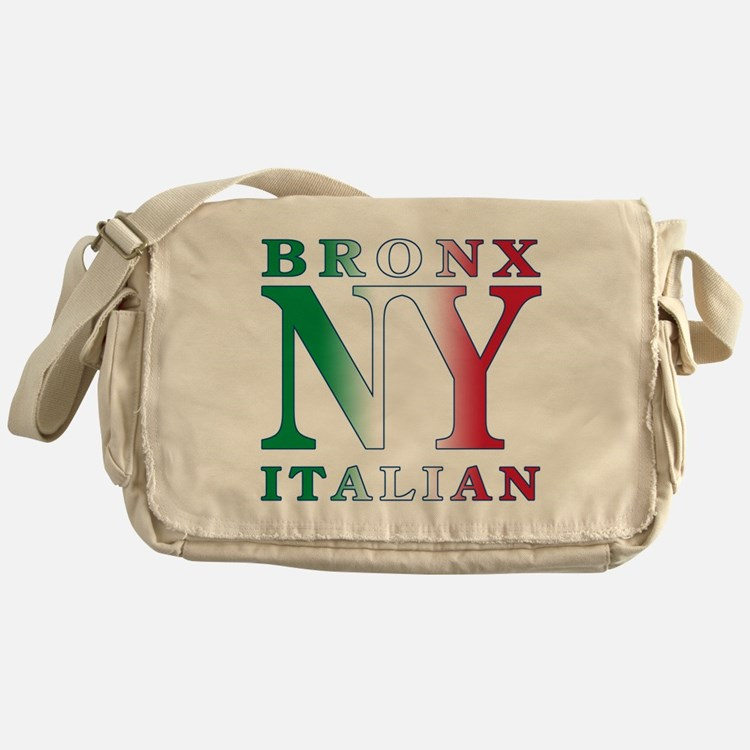 Bronx New york Italian Messenger Bag