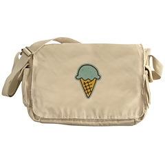 Cute Blue Ice Cream Cone Messenger Bag