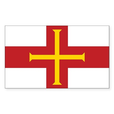 Guernsey Flag Rectangle Sticker