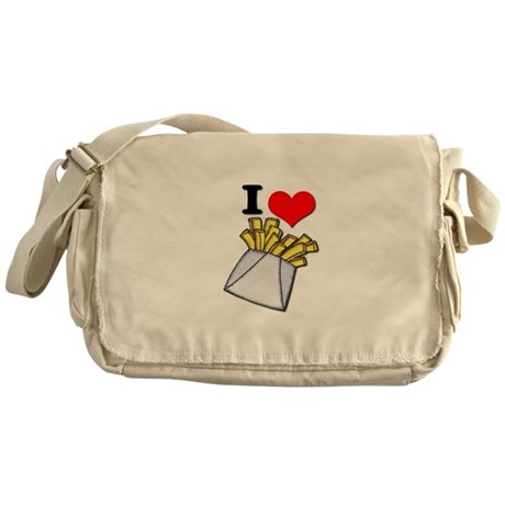 I Heart (love) French Fries Messenger Bag