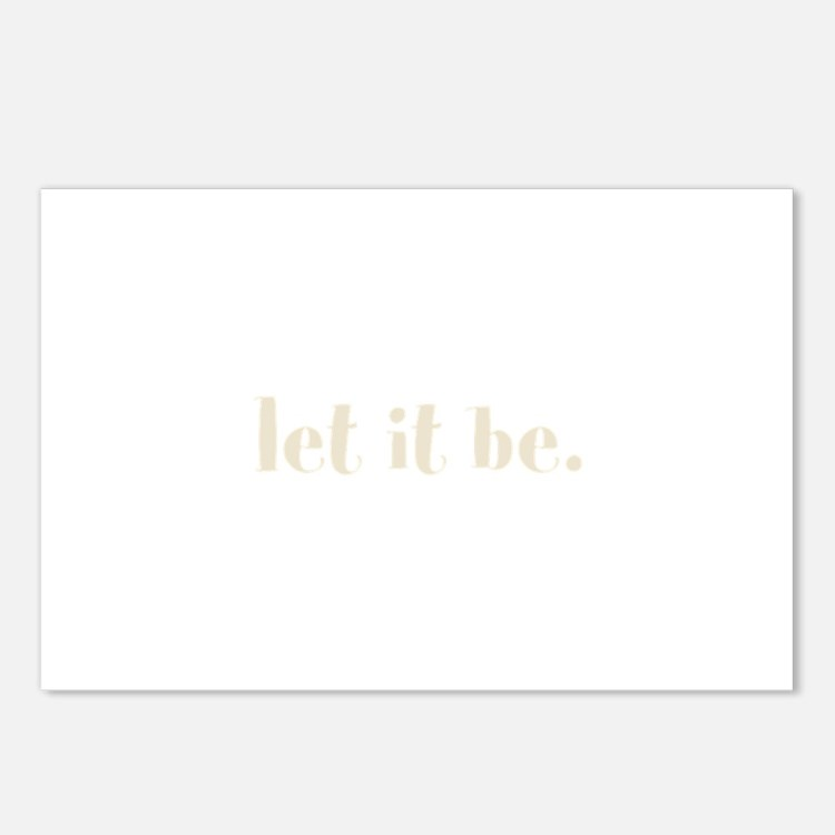 let it be. (Words To Live By) Postcards (Package o