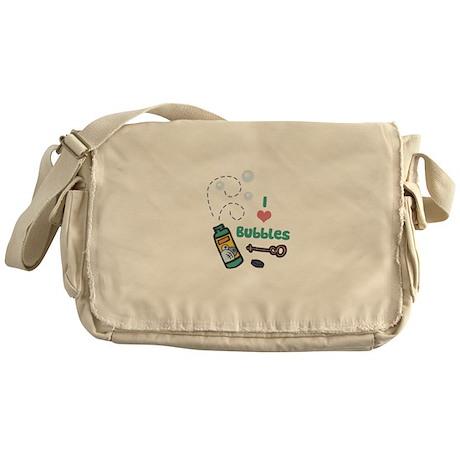 I love (heart) Bubbles Messenger Bag