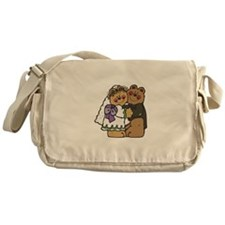 Country Style Bride and Groom Messenger Bag
