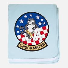 F-14 Tomcat VF-211 Checkmates baby blanket