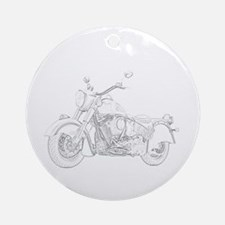 Indian Motorcycle Ornament (Round)