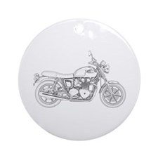 Vintage Triumph Motorcycle Ornament (Round)