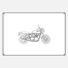 Vintage Triumph Motorcycle Banner