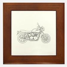 Vintage Triumph Motorcycle Framed Tile