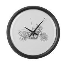 Vintage Triumph Motorcycle Large Wall Clock